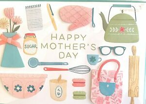 Papyrus Mother's Day card - Teapot, Flowers, Baking, Macarons- Simple Pleasures