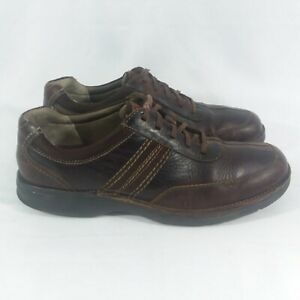Clarks 'Slone' Brown Leather Oxford Lace-Up Shoes Mens 13M