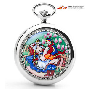 Pocket Watch 3602 Russian Analog Erotic Watch Loving Couple Bauer Molnija Jl