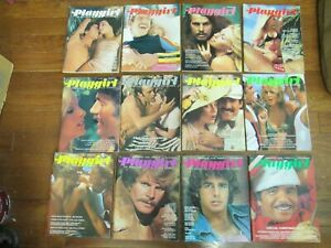 Vintage Play Girl Magazine Lot of 12 Complete Year 1974, EXCELLENT PLAYGIRL
