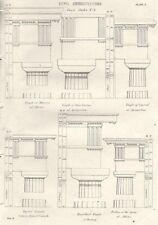 BUILDINGS. Civil Architecture; Doric Order. No. 3 1880 old antique print