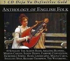 ANTHOLOGY OF ENGLISH FOLK 5 CD NEU MAGNA CARTA/SANDY DENNY/RENAISSANCE/+