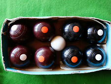 Henselite Junior Carpet Bowls Biased balls Vintage Made in Australia
