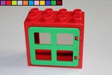 Motivstein Auto Fahrzeug Baustein Lego Duplo Fenster grün