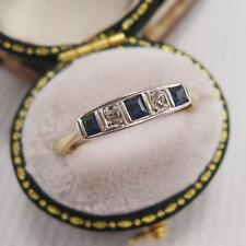 Platinum Sapphire Ring Art Deco Fine Jewellery
