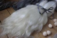 "Mohair doll hair 8-11"" 0.35 oz White organic mohair locks angora Goat Reroot"