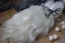 "Mohair doll hair 8-11"" 0.35 oz White organic mohair locks angora Goat reborn"