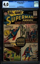 80 page giant superman annual 1 CGC 4.0 Silver Age Key DC Comic IGKC L@@K