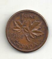 1961 Canadian Penny