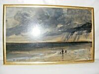VINTAGE THOMAS O'DONNELL IMPRESSIONIST OIL PAINTING OF A SEASCAPE STORMY SIGNED