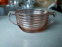 Anchor Hocking Depression Glass Manhattan Pink Sugar Bowl