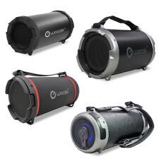 Portable Wireless Bluetooth Speaker Boombox Bass Stereo Cylinder SD FM Radio