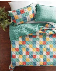 New The Pioneer Woman Floral Patchwork 3-Piece Quilt Set, King