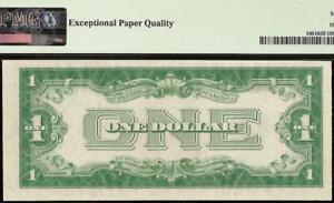 UNC 1928 A $1 DOLLAR SILVER CERTIFICATE FUNNYBACK NOTE PAPER MONEY PMG 63 EPQ