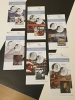 Original VfS Flyer Zertifikate 10 Euro Silber Gedenkmünzen Komplettset 2010 6 St