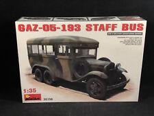 MiniArt GAZ-05-193 Staff Bus 1:35 Scale Plastic Model Kit 35156 New in Box
