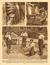 London labourers in a heat wave. Road works 1926 old vintage print picture