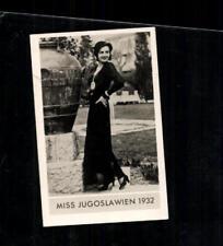 Miss Jugoslawien 1932 Die schönsten Frauen der Welt Zigarettenbild ## BC 129167