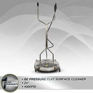 """Pressure Washer Surface Cleaner Rotary Whirlaway 24"""" Flat Stainless Steel"""