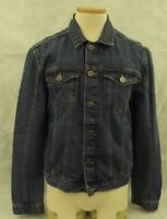 CALVIN KLEIN JEANS Mens L Denim Trucker Jacket Medium Wash Style #41BJ841 $79