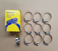 TRIDON WORM DRIVE HOSE CLAMPS Pack of 10 ALL STAINLESS STEEL 27mm to 51mm HAS024
