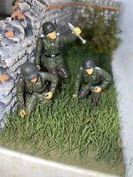 3 RARE! German Mortar Forces Valor Unimax 21stCentury 54mm-1/32 Painted Figure