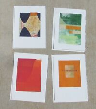 DEBORAH SIBONY California Modern Abstracts (4)  Monotype Collage Greeting Cards