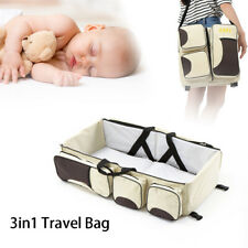 Baby Travel 3 in 1 Portable Bassinet Cot Mummy Travel Bag Diaper Change Bed Crib