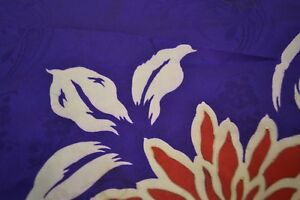 Japanese Silk - Purple with Red floral design 1146
