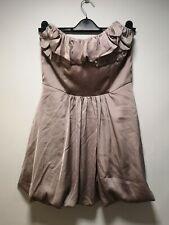 ASOS Grey / Purple Tint Zip Back Bandeau Dress - Size 10 (258)