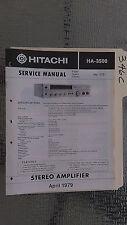 Hitachi ha-3500 service manual original repair book stereo amp amplifier