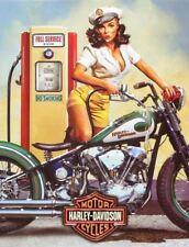 HARLEY Davidson Retrò Vintage in metallo Tin sign Targa Poster Garage Muro Decor A4