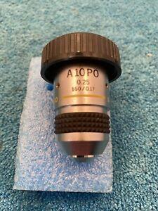 Olympus A 10 PO 0.25, 160 / 0.17  Strain-Free Microscope Objective