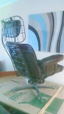 Midcentury Modern Space Age Wire Formed Lounge Rocker Swivel Homecrest Armchair