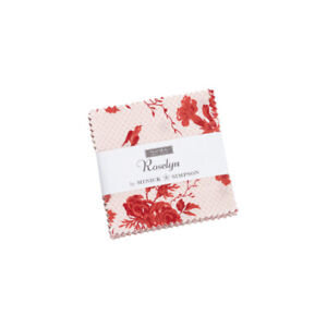 """Roselyn Mini Charm Pack by Minick & Simpson for Moda  42 2.5"""" Squares 14910MC"""