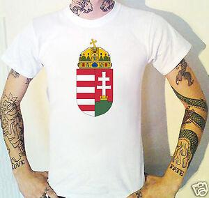 HUNGARY Coat Of Arms T-Shirt. Hungarian Emblem