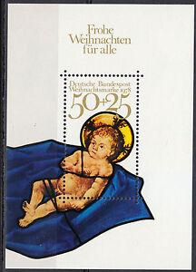 Germany 1978 Mi 989 block 17 Sc B557 MNH Christ child Christmas **