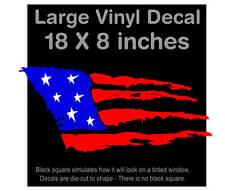 American Flag ROUGH STYLE! LARGE! Decal Sticker 18