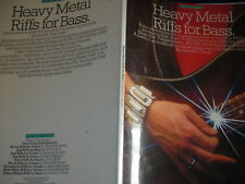PARTITIONS songbook HEAVY METAL RIFFS for BASS ac/dc 87