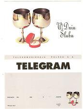 TELEGRAMME POLOGNE  THEMES MARIAGE ALLIANCES OR BIJOUX