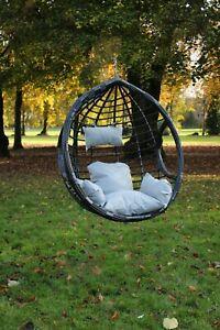 Garden Hanging Chair Hammocks Swing Egg Chair PE rattan - Basket ONLY Black