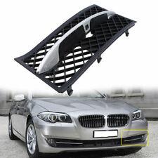 Bumper Grille For BMW 535i xDrive 528i 2011-2013 Left Textured Black Plastic