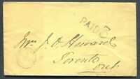 "ONTARIO 1870 STAMPLESS COVER - CDS TOWN CANCEL ""WINDSOR"""
