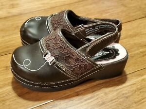 Little Toddler Girls Brown Carter's Clogs Shoes Size 7 M
