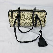 Dooney & Bourke Handbag Purse Tapestry Canvas Lavender Signature Spell Out
