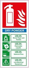 [ 200x85mm ] FIRE EXTINGUISHER - DRY POWDER - STICKER/SIGN - Health and Safety