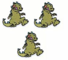 """Rugrats TV Series REPTAR 4 1/2"""" Tall Embroidered Set of 3 Patches"""