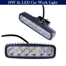 2x 18W LED Flood Work Light Spot Beam Driving Lamp Reverse Car Truck Bar 4WD SUV