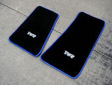 ULTRA THICK Black Shagpile Car Mats w/ Blue Trim - TVR Chimaera RHD + TVR Logos