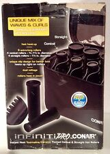Infiniti Pro by Conair Instant Heat Flocked Conical & Straight Hot Rollers Black
